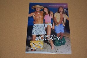 "Dallas Firefighters Jockey Pouch 1999 Jockey Original Print Ad 8.5 x 11/"""