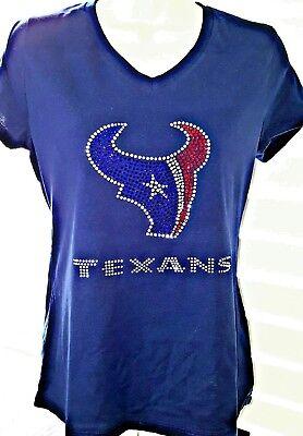 5ae37f80 Houston Texans Rhinestone Bling v-neck ladies T-shirt | eBay