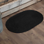 Black-Soft-Jute-Country-Cottage-Durable-Oval-Slice-Braided-Rug