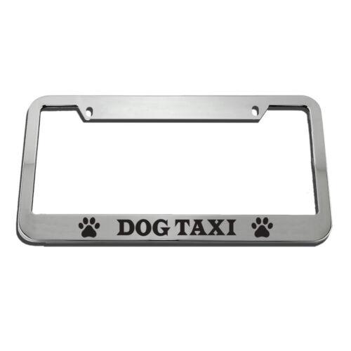 Dog Taxi License Plate Frame Tag Holder
