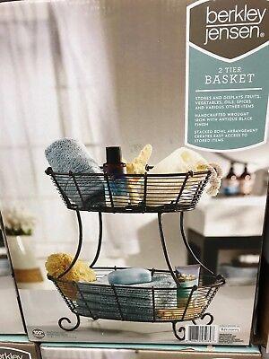 Twist Chicken Wire 3-Tier Basket Organizer Buffet Kitchen Bathroom Dorm Decor