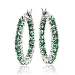 Created-Emerald-Hoop-Earrings-in-Brass