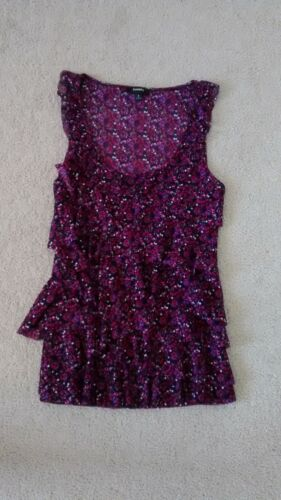 Womens S Express sleveless purple flowery flowy sh