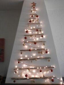Albero Di Natale Grande.Dettagli Su Grande Albero Di Natale 1 10 M Da Parete Legno Di Mare Appendere Shabby Muro