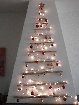 Alberi Di Natale In Legno.Grande Albero Di Natale 1 10 M Da Parete Legno Di Mare Appendere Shabby Muro Ebay