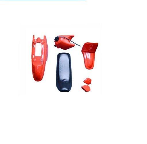 Yamaha PW50 PY50 PW 50 rosso Plastic Fender Body Seat Gas Tank Kit