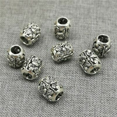 2pcs of 925 Sterling Silver Butterfly Round Ball Beads for Bracelet Necklace