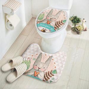2pcs-Set-Bathroom-Rug-Shower-Curtain-Bath-Mat-Piece-Towels-Toilet-Carpet-New-Hot