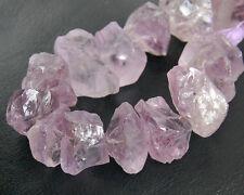 Natural Amethyst Rough Nugget Semi Precious Gemstone Beads (3pcs)