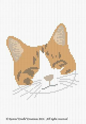 Crochet Patterns DOG//PUPPY FACE Color Graph Afghan Pattern *EASY//BEGINNER