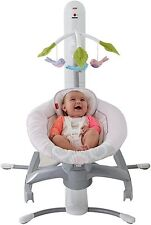 Fisher-Price 4 in 1 Motion Cradle 'n Swing with Smart Connect light pink