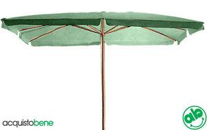 Ombrellone Da Giardino 3x2.Ombrellone Da Giardino 3x2 Verde Legno Palo Centrale Con Carrucola