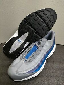 new concept a9769 0355e Details about New 2018 Nike Air Max 95 Essential SZ 12 Wolf Grey Blue  Nebula AJ2018-001