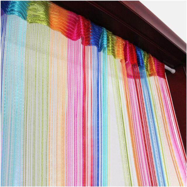 6 Color Colorful Door Window Panel Room Divider Cute Curtain String Strip Tassel