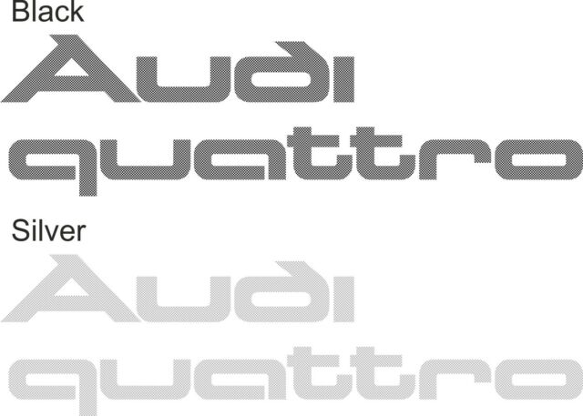 SILVER SPECKLED BOOT LID DECALS AUDI UR QUATTRO TURBO COUPE//COUPE 80//90//100//200