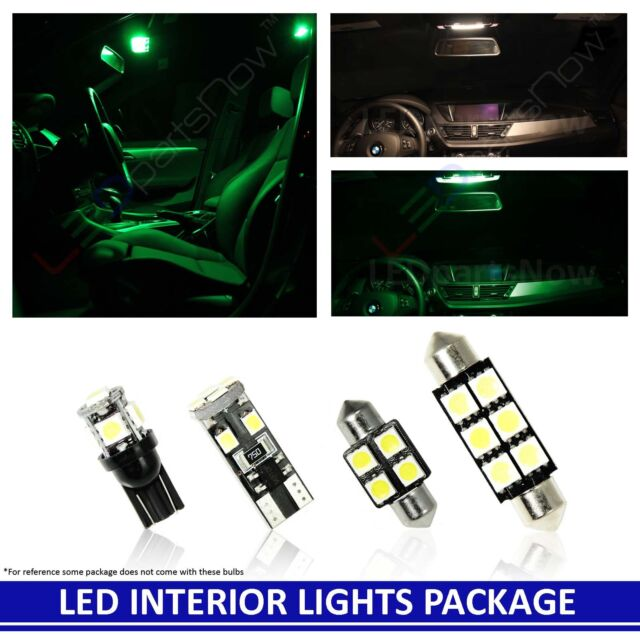 GREEN LED Interior Lights Replacement Package Kit For 2004