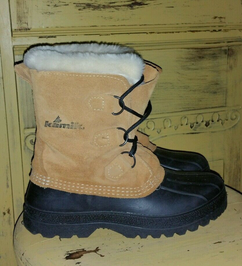 KAMIK CANADA LADIES LADIES LADIES WINTER WOOL LINED Stiefel MUKLUKS DUCK SNOW HUNTING 7 M 03af33