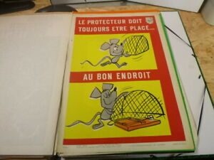 Affiche-Serigraphie-Prevention-Securite-70-039-s-AINF-RARE-Souris
