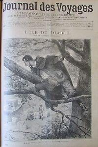 Zeitung-der-Voyages-Nr-887-von-1894-Mayne-Reid-L-Insel-Teufel-Auch-Bekannt-Als