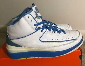 buy online 25345 76876 Details about 2004 NIKE AIR JORDAN II 2 RETRO CARMELO MELO WHITE BLUE  YELLOW 308308-141 OG 10