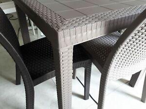 Tavoli Da Terrazzo Prezzi.Tavolo Da Esterno In Rattan 80x80 Made In Italy Bar Polyrattan