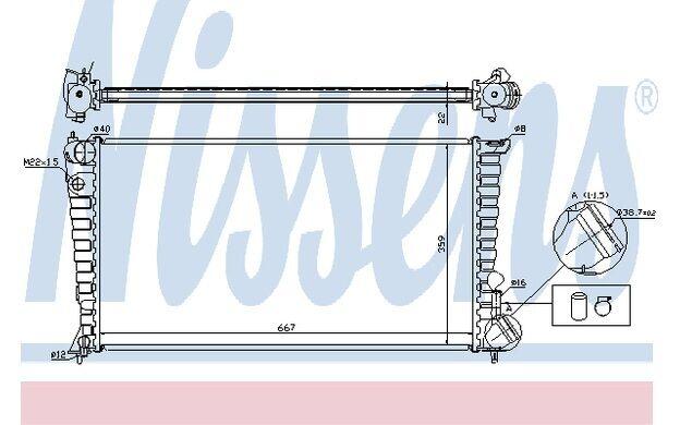 NISSENS Radiador, refrigeración del motor CITROEN XSARA PEUGEOT PARTNER 61315