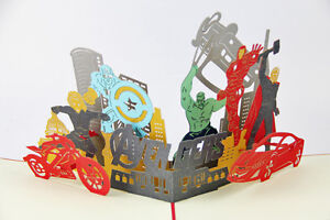 Avengers marvel 3d pop up greeting card birthday invitation thor image is loading avengers marvel 3d pop up greeting card birthday stopboris Image collections
