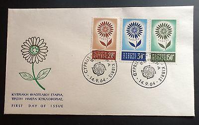 Gastfreundlich Zypern F D C Mi 240 Bis 242 Europa 1964 Gute Begleiter FüR Kinder Sowie Erwachsene Nr