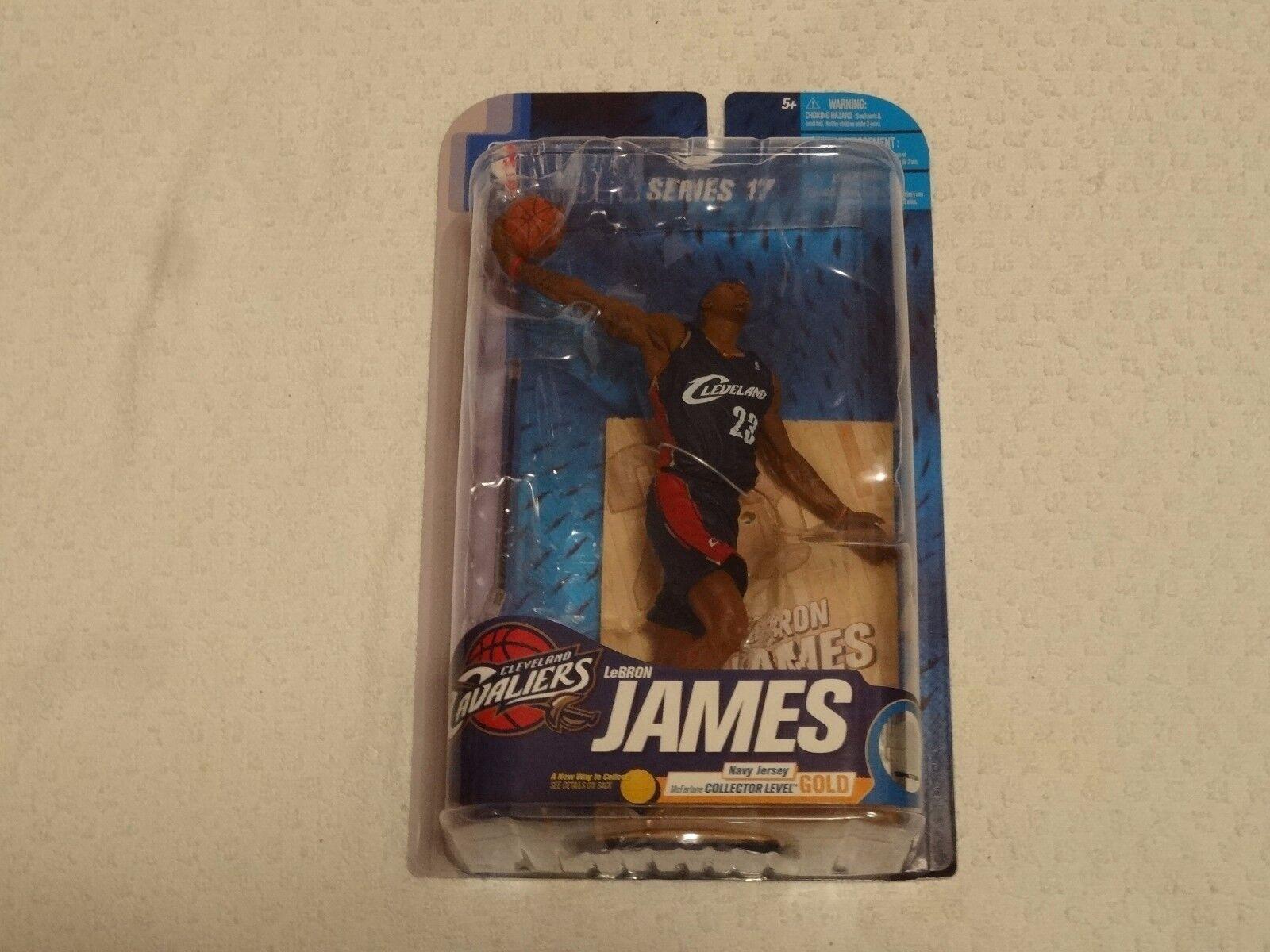 MCFARLANE NBA Series 17 Lebron James or niveau Chase variante bleu marine  156 500