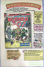 MGM's Marvelous Wizard of Oz 1st DC Marvel Joint Venture Great Original Print Ad