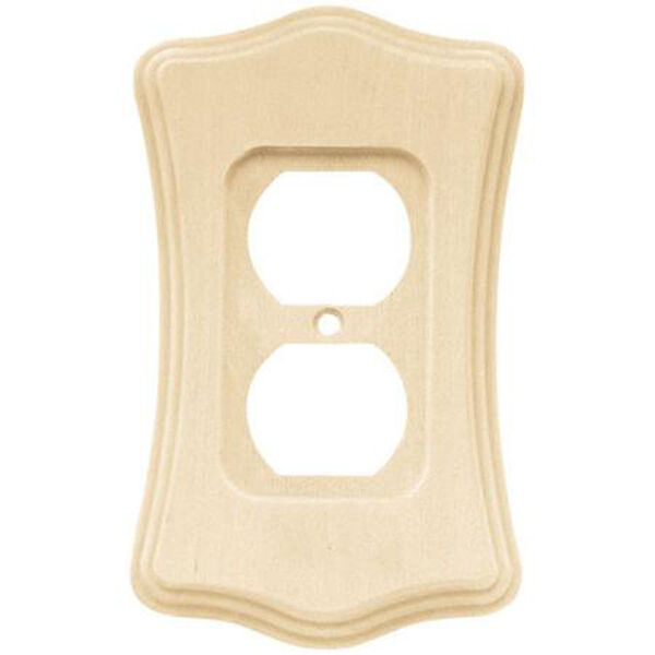 Brainerd Unfinished Wood Birch Scalloped Single Duplex Wall Plate 64637 Ebay