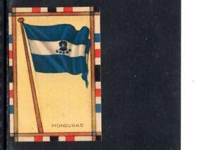 VERY EARLY HONDURAS  FLAG CIGARETTE CARD, NATIONAL FLAG OF HONDURAS, SCARCE