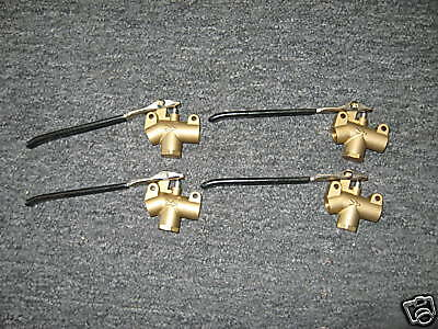 Set of 4 Carpet Cleaning Brass Wand Angle Valves