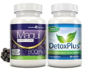 Details about Maqui Berry Detox Cleanse Weight Loss Diet 1 Month Evolution  Slimming