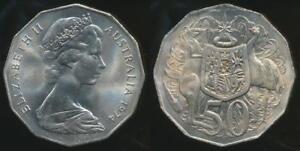 Australia-1974-Fifty-Cents-50c-Elizabeth-II-Uncirculated
