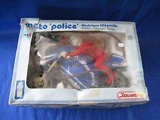 AE645 JOUSTRA 28 CM MOTO POLICE ELECTRIQUE TELEGUIDEE Ref 2819 BON ETAT