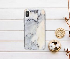 Gray-Marble-iPhone-XR-Silicone-Case-Granite-Stone-iPhone-5-6s-7-8-Plus-Gel-Cover