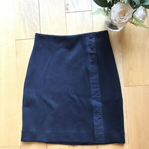 Cos Size XS 8 10 navy blue button down career office business skirt NEW fitted