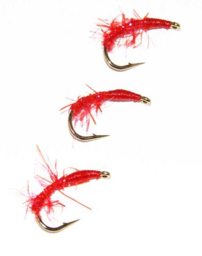 Olive Ou Rouge UV dispersion Fritz lâche nymphes Buzzers Truite Pêche à La Mouche Mouches