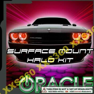 For Dodge Challenger 15-18 SMD Waterproof Red Halo Kit for Fog Lights