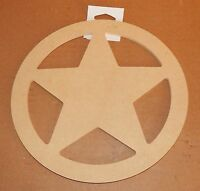 Art Minds By Michaels 9x 3/8 Circle With A Star In Center Wood Craft Item 16m