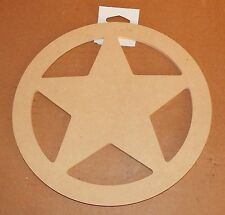 """Art Minds by Michaels 9""""x 3/8"""" Circle With A Star in Center Wood Craft Item 16M"""