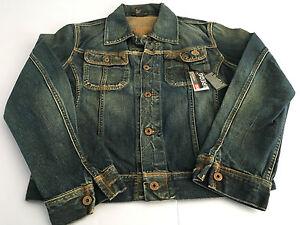 new style 58743 649ac Dettagli su DIESEL giubbino jeans uomo mod GREGG 100% cotone vestibilità  slim