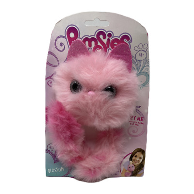 Pomsies Pet Zoey Pink Dragon Interactive Wearable Plush Toy