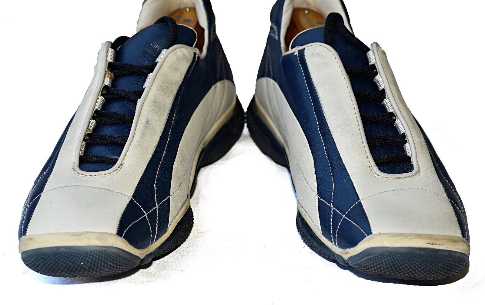 PRADA Fashion Sneakers blueE & CREAM 10.5E 10.5 E US size = 9.5E 9.5 Prada size