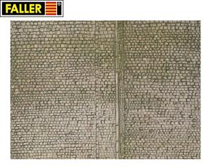 Faller-H0-170601-Mauerplatte-034-Pflaster-034-1m-57-28-NEU