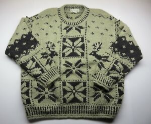 Details about BANANA REPUBLIC Knit Sweater Christmas Snowflake & Reindeer Adult Men's Sz Large