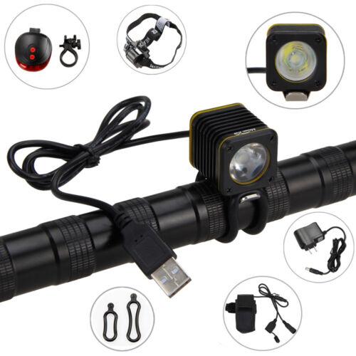 5000LM Mini XM-L T6 4 Modes Portable USB LED Bicycle Light Headlamp Bike Torch