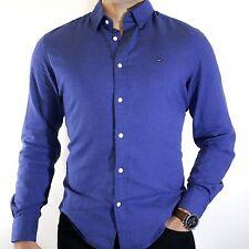 NWT Tommy Hilfiger Mens Blue Lightweight Cotton Flannel Woven Shirt Size Medium