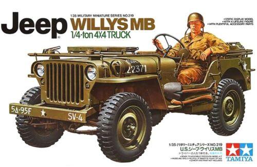 35219 Jeep Willys MB 1//4 Ton Truck TAMIYA 1//35 plastic model kit